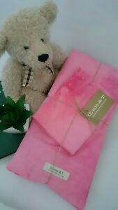 Baby Organic Cotton 3 Piece Pink Fitted Cot Sheet Set, natural dyes - Brand new