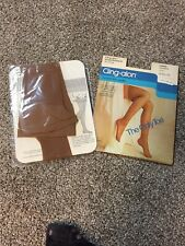 VINTAGE SEARS CLING-ALON PROPORTIONED FIT CLASSIC SANDSTONE NYLON STOCKING NIP