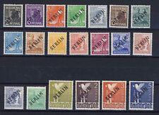 Germany - Berlin, Black Overprints, SG B1-20, MI 1-20 Cat £475