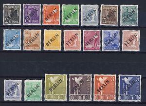 GERMANY - BERLIN, 1948 Black Overprints, MNH, £175.00