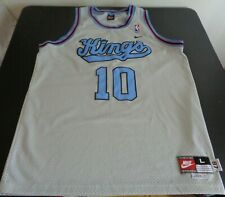 Mike Bibby Sacramento Kings Rewind Nike Sewn Large Jersey Nba Basketball Gray