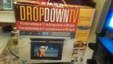 "Audiovox VE727 Drop Down Under Counter 7"" TV & DVD Player AM/FM Clock Radio"