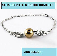 GOLD & SILVER P HARRY POTTER THE DEATHLY HALLOWS SNITCH BRACELET AUS SELLER 126W