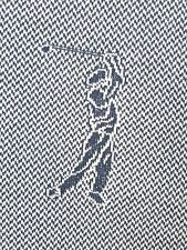 RALPH LAUREN Golf Blue White S/S Golfer Polo Shirt XXL Cotton RARE