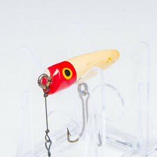 Vintage South Bend #971 Trout-Oreno Red & White Fishing Lure Painted Eye