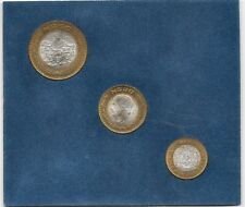 Mejico estuche oficial 1994 3 valores 10 - 20 - 50 Pesos cobre - plata