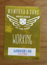 Mumford & Sons Gentlemen of the Road Rare Used Large Backstage Pass