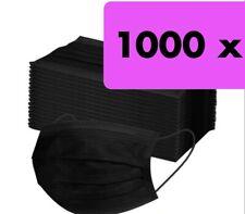 10-1000! Stück Schwarz Mundschutz Medizinische OP Maske Typ 3-lagig Einweg