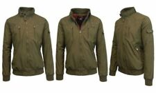 Spire By Galaxy Lightweight Moto Bomber Jacket - Olive Green - Size  XXL