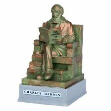 NEW Lemax Christmas Village Charles Darwin Statue Accessory Set Holiday Figure