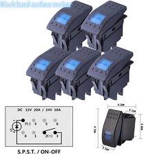 5Pc Waterproof Bar Rocker Toggle Switch LED Light  For Car Van Dash Light Set
