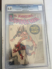 Amazing Spiderman #34 CGC 8.0 Stan Lee Steve Ditko Kraven free shipping