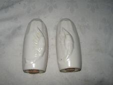 Vintage Retro Kitsch 1950's Plain Diana Pottery Prawn Pepper & Salt Shakers