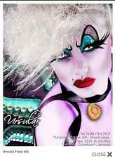 Xotic Eyes Ursula Costume Crystal Glitter Theatrical Make Up Tattoo & Lips