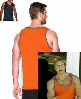 Under Armour Threadborne Athletic Tank Top Mens Loose Fit S M L XL Orange Black