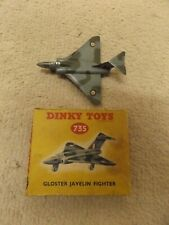 """VINTAGE DINKY TOYS MODEL No.735 GLOSTER     """" JAVELIN """" FIGHTER boxed"""