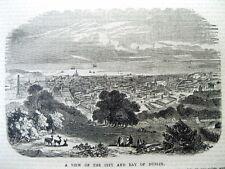 1860 Boston Irish newspaper w view & very long description of DUBLIN Ireland