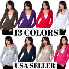Color Story Junior Women's Fitted Thermal Zip Up Hoodie Sweater S8035