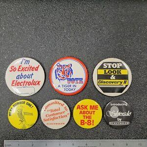 VINTAGE COLLECTION - Electrolux Vacuum Salesman's Button Pin Hat/Shirt/Jacket