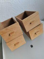 Alt Holzschubladen 4 er Set Schütten Vollholz Shabby Box Kasten Kiste Käste 50er