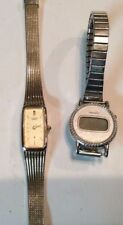 Lot of 2 Citizen womens watch, for repair or parts as-is,digital one tested T398