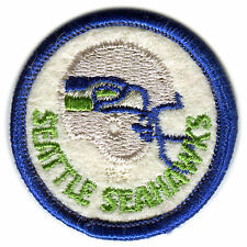 "SEATTLE SEAHAWKS NFL FOOTBALL VINTAGE 2"" ROUND HELMET LOGO PATCH"