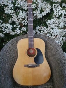 Vintage 70s Made in Canada Norman early b20 Acoustic guitar on utube great sound