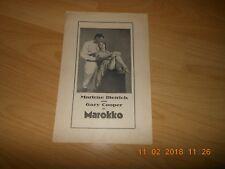 FILMPROGRAMM MAROKKO  MARLENE DIETRICH GARY COOPER