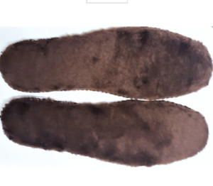 NEW! 1 Pr Fleece Footbed Insoles UGGs, Dr Martens Etc.6 US Women- Chocolate