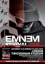 "EMINEM ""REVIVAL TOUR"" LONDON, U.K. 2018 CONCERT POSTER- Hip Hop Music,Slim Shady"