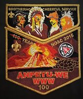 ANPETU-WE LODGE 100 SOUTHEAST MS OA 100TH 2015 NOAC CENTENNIAL 2-PATCH DELEGATE