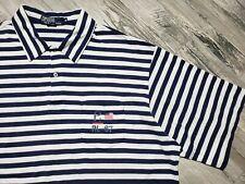 Polo Ralph Lauren P2 Rl-67 Striped Polo Shirt Men's size Xl Vintage Navy White