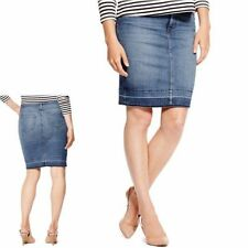 Straight, Pencil Denim No Pattern Plus Size Skirts for Women