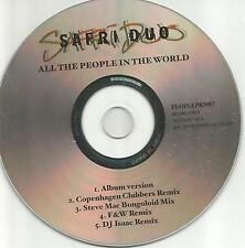 SAFRI DUO All the People in the World 5TRX w/ RARE REMIXES PROMO DJ CD single