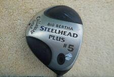 New listing CALLAWAY BIG BERTHA STEELHEAD PLUS #5 WOOD/ BB PLUS L FLEX GRAPHITE SHAFT/RH