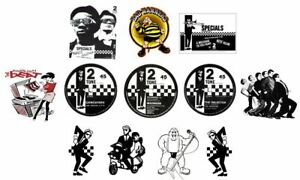 x12 6cm Ska Vinyl Window Stickers 2Tone specials madness selecter bad manners