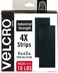 """Brand Heavy Duty Fasteners 4X2""""Strips 4 Sets Holds 10 Lbs Stick-On Adhesi"""