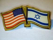 Vintage American & Israel Flag Pin Brooch