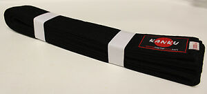 KANKU New heavy Black karate Belt, Taekwondo Belt, Judo Belt , Martial Arts Belt