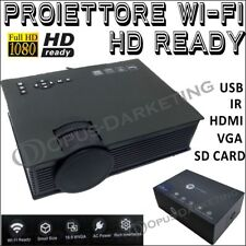 VIDEO PROIETTORE WIFI READY FULL HD 1080p CINEMA IN CASA PC USB HDMI PEN DRIVE