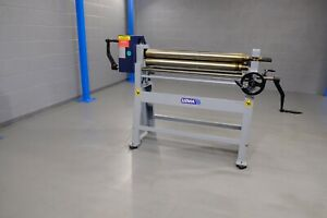 UZMA  Initial pinch Manual  metal Bending rollers 1270mm x 90mm 2.5 mm vat inc