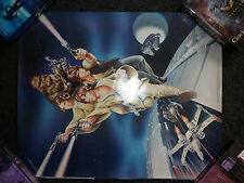 Vintage Star Wars 1978 Skywalker, Chewbacca, Solo Leia (Carrie Fisher) poster