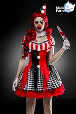Sexy Damen Karneval Halloween Horror Clown Komplettset Kostüm Gr. S M L 36 38 40