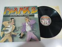 """MAX MIX 2 1985 Mike Platinenhalter Javier Ussía Musik Italo - LP vinyl 12 """" G G+"""