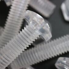 Paquete de 30 tornillos y tuercas transparentes, de plástico acrílico.M8 x 40mm