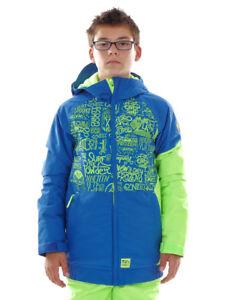O`Neill Skijacke Snowboardjacke Grid blau 2 Layer Wasserdicht Neon