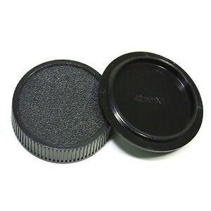 Camera Body + Rear Lens Cap for M42 42mm Pentax Praktica Fujica Zenit - UK STOCK