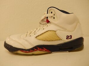Nike 440888-103 Air Jordan 5 Olympic Retro HT Basketball Sneaker Boy's US 6Y
