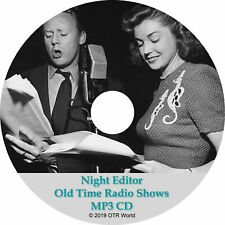 Night Editor Old Time Radio Shows OTR OTRS 26 Episodes MP3 CD-R