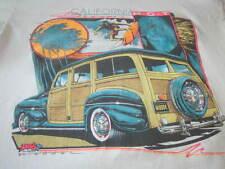 California Dreamin Hot Vintage 91 Surf And Skate Tee Shirt Woody Car Surf